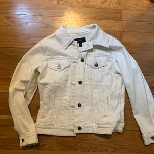 J. Crew Denim Jacket In Ecru